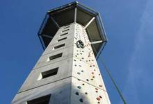 Climbing wall at the 'Hochheideturm' in Willingen