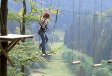 The Nature High Ropes Course at the Mühlenkopf Ski Jump in Willingen