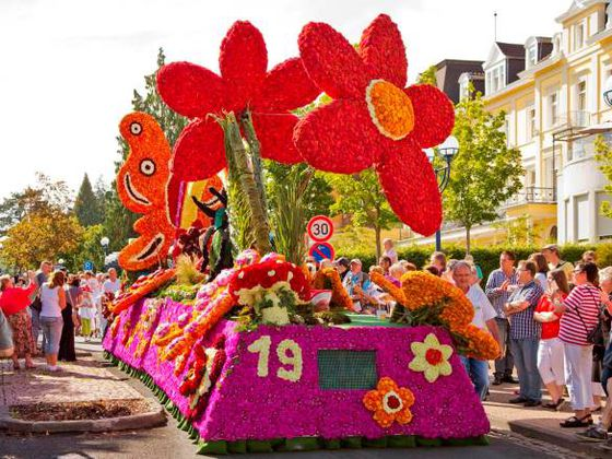 The Flower Parade in Bad Wildungen is a feast for the senses