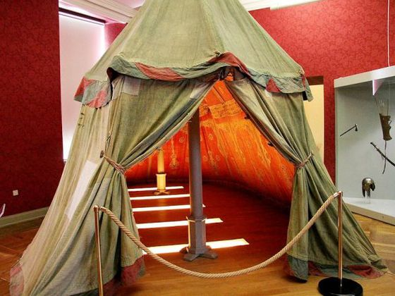 A historic Turkish tent at the Hunting and Military Museum in Bad Wildungen