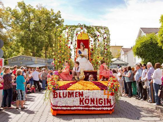 A float during the Flower Parade in Bad Wildungen