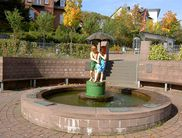 The well-known 'Hänsel & Gretel Fountain' in Battenberg