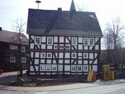 The half-timbered town hall in Bromskirchen