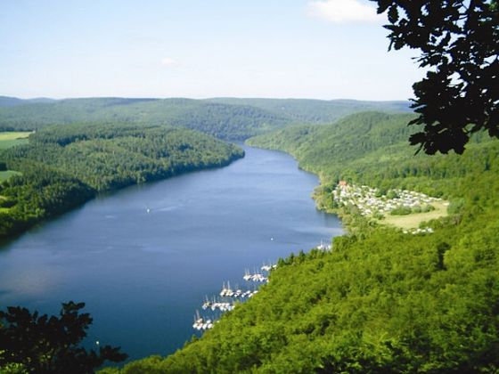 View on the Edersee