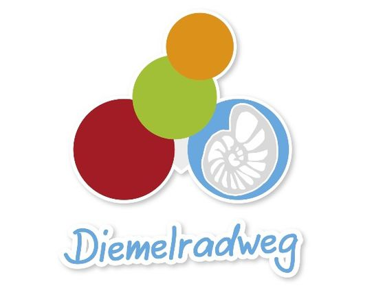 The logo of the Diemel Cycle Route includes an ammonite