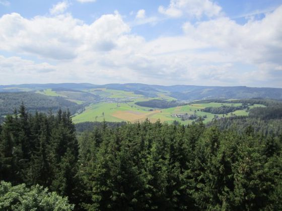 View over the Diemelsee Nature Park from the Dommelturm