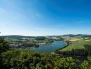 Panoramic view across the Diemelsee