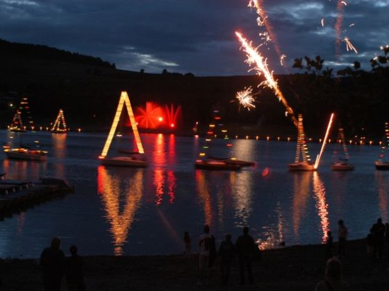 The 'Diemelsee in Flames' – the evening event at the 'Vacationer's Festival'