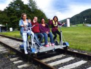 Riding the Eder Cycle Handcar along the Affolderner See