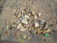 Collected shards at the site of 'Old Berich'