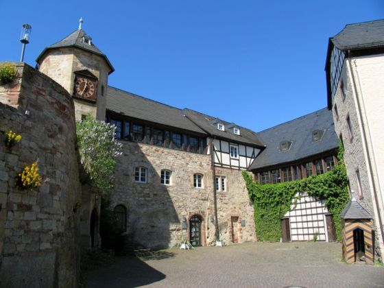 The courtyard of 'Schloss Waldeck'