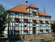 The half-timbered town hall in Gemünden