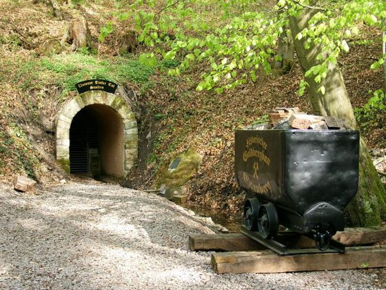 The entrance of the gold mine in Goldhausen