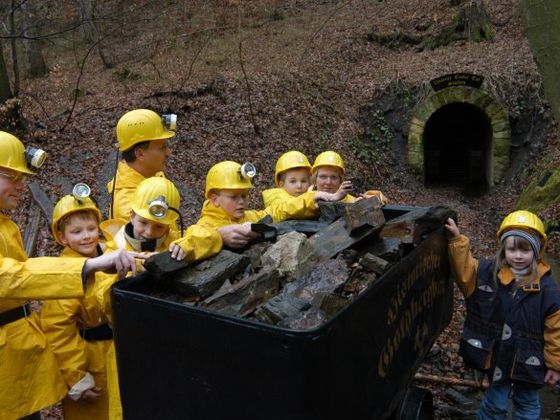 A guided tour in the 'Gold Mine Eisenberg' in Korbach