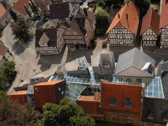 Aerial view of the Wolfgang Bonhage Museum in the old town