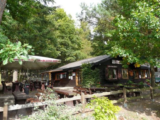 The 'Bericher Hut' at the entrance to the Wildlife Park Edersee for some refreshments