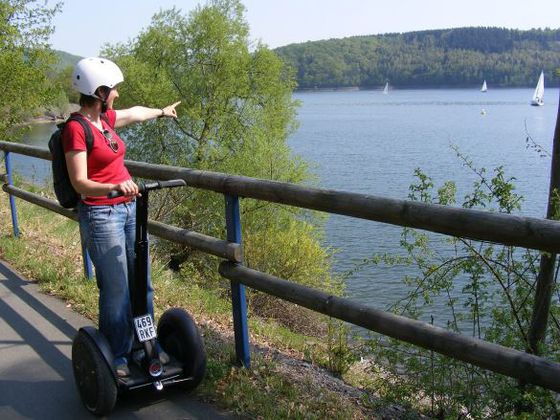 Segway tour along the shore of the Edersee