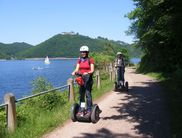 Segway tour along the southern shore of the Edersee, with Schloss Waldeck in the background