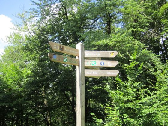 Signage along the 'Hagenstein Route' in the National Park