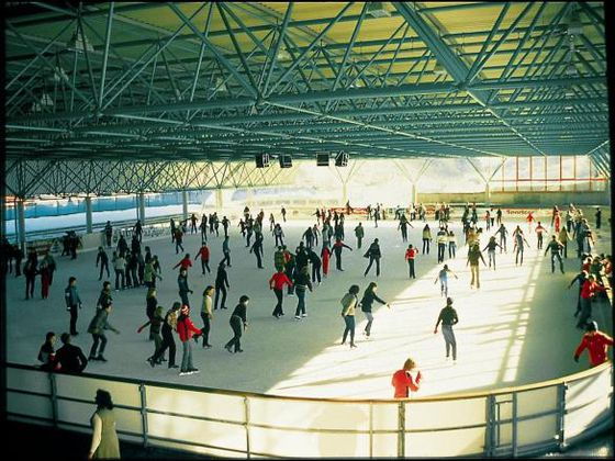 The ice-skating rink in Willingen