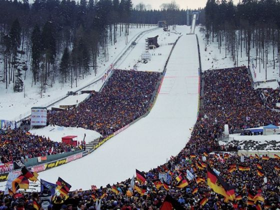 Every year, the world's elite ski jumpers meet here to win World Cup points.